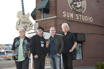 The Fluffy Jackets outside Sun Studio, Memphis TN,