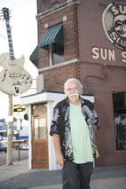Manny Charlton outside Sun Studio